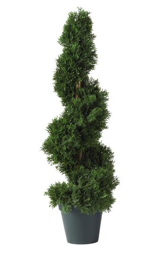 Entrance Tree (Nearly Natural 5160 Cedar Spiral Silk Tree Indoor/Outdoor, 2-Feet, Green)