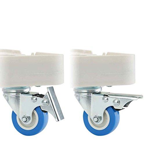 washing machine base, With 4 Locking Rubber Swivel Wheels Roller Dolly ,washing machine base plate for Dryer,Washing Machine and Refrigerator by DSHBB (Image #3)