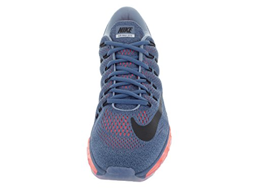 Nike Mens Air Max 2016 Scarpa Da Corsa Ocean Fog / Nero / Brillante Cremisi / Blu Taglia 12 M Us