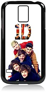 one direction - Hard Black Plastic Snap - On Case with Soft Black Rubber LiningGalaxy s5 i9600 - Great Quality!