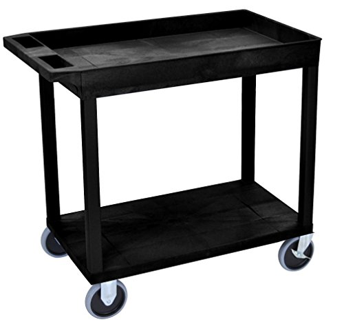 LUXOR EC12HD-B Cart, 1 Tub with 1 Flat Shelf, 18