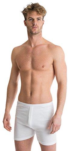 OCTAVE 2 Pack Mens Soft 100% Combed Cotton Trunks - Classic Design Modern Cut (Waist: 30