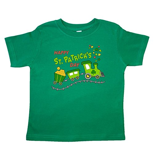 [Inktastic Little Boys' Happy St. Patrick's Day shamrock train Toddler T-Shirt 2T Kelly Green] (St Patricks Day Shirts For Toddlers)