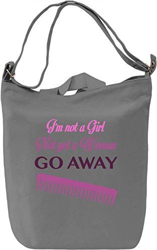I'm not a girl Borsa Giornaliera Canvas Canvas Day Bag| 100% Premium Cotton Canvas| DTG Printing|
