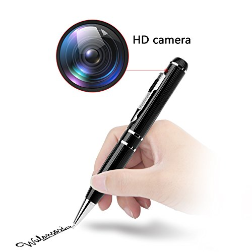 Spy Pen Hidden Camera - Full HD 1296P 32GB Pen Spy Cam Espias Inspection Gadget With Motion Detector For Criminal Investigation by WCXCO