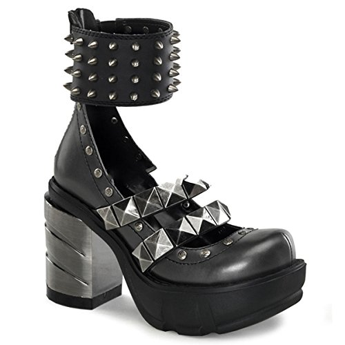 Schuhe 62 36 High Demonia Industrial 43 Metall Sinister Gothic Heels 677n01