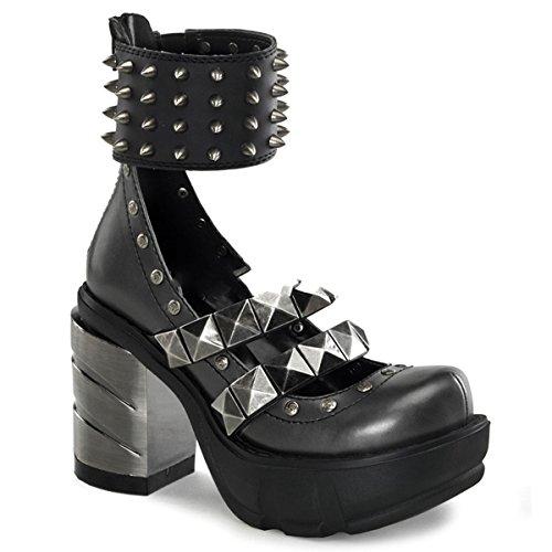 Demonia Sinister-62 - Gothic Industrial Metall High Heels Schuhe 36-43