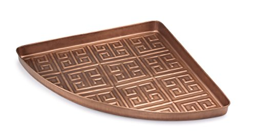 Good Directions Athens Multi-Purpose Corner Tray / Boot Tray / Shoe Tray - Copper Finish (22.5 in) - Food, Drinks, Plants, Pet Bowl, Garage, Entryway, Entrance, - Copper Shoes Outdoor