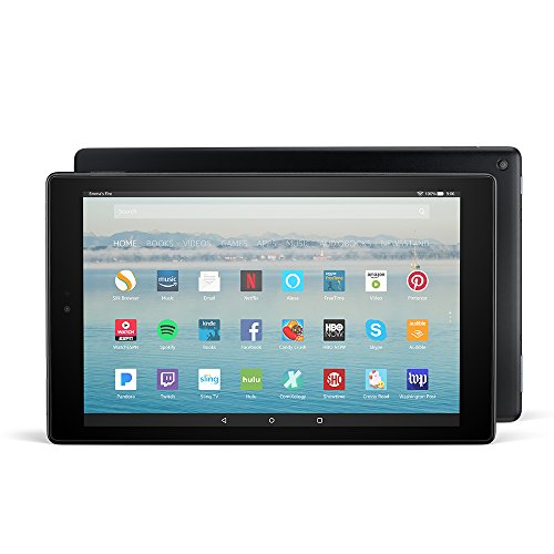 "Fire HD 10 Tablet with Alexa Hands-Free, 10.1"" 1080p Full HD Display, 64 GB, Black (Previous Generation - 7th)"