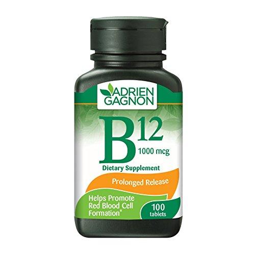Adrien Gagnon - Vitamin B12,1000 mcg, Anemia & Nervous System, 100 Tablets