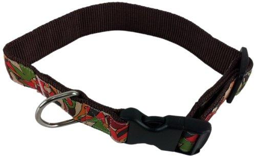 - La Petrick Basic Ribbon Floral Graphics Collar, X-Large
