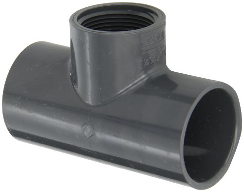 Schedule 40 Tee (Spears 402-G Series PVC Pipe Fitting, Tee, Schedule 40, Gray, 1-1/2