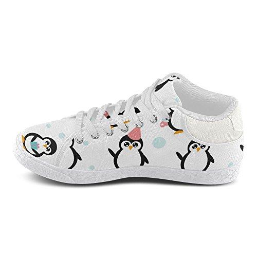 Interestprint Jeans Duk Chukka Mode Sneakers För Kvinnor Pingviner