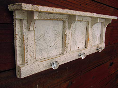 VINTAGE STYLE TIN SHELF **HANDMADE IN TEXAS** MANY SIZES AVAILABLE DISTRESSED WALL SHELF ENTRYWAY SHELF FRECNH COUNTRY DISTRESSED AGED LOOK ()