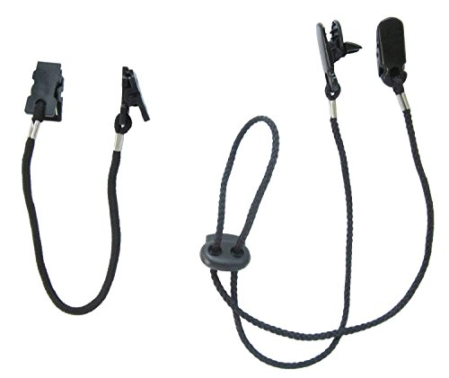 Tvoip Set of 2 Cap Clips and Hat Chin Strap Windproof Clip Universal Clip Anti-lost Strap Multi-function Clip with Strap for Golfing, Fishing, Boating, Sailing, and Other Sports]()