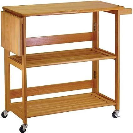 Amazon.com: Indoor Furniture Home Folding Kitchen Cart ...
