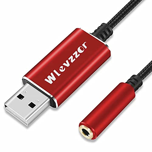 USB naar 3,5 mm Jack Audio Adapter, USB naar 3,5 mm TRRS 4-polige vrouwelijke, ingebouwde chip externe stereo…