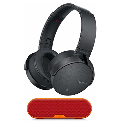 Sony XB950N1 Extra Bass Wireless Noise Canceling Headphones (Black) w SRS-XB2 Portable Wireless Bluetooth Speaker (Red) - Sony Black Noise Canceling Headphone