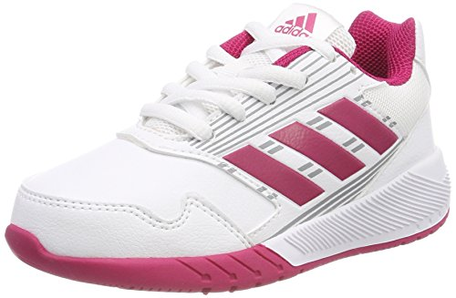 adidas Kinder-Unisex AltaRun K Turnschuhe, Blanc/Rose VIF/Gris Weiß (Footwear White/Bold Pink/Mid Grey)