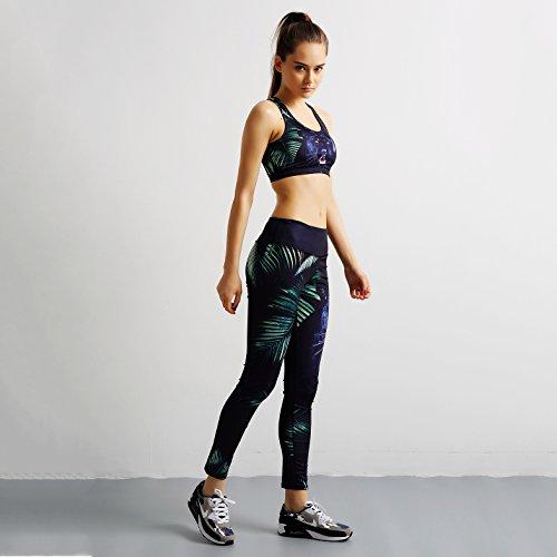 ygxl Sportswear 2 piezas juego de chándal Elasticidad. Ropa deportiva –  Cabestro de deporte 0b05d020abd9
