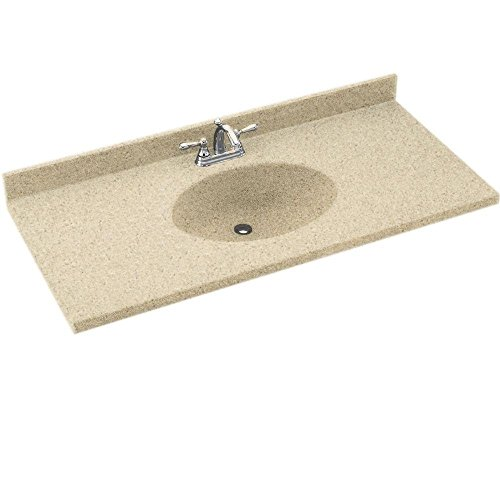 Swanstone CH1B2231-040 Chesapeake Solid Surface Single-Bowl Vanity Top, 31-Inch by 22-1/2-Inch, Bermuda Sand ()