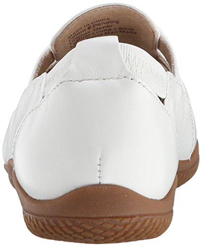 Softwalk Hampton de la mujer Ballet Flat White