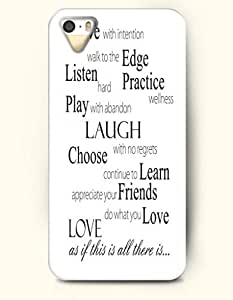 OOFIT iPhone 4/4s Case See With Intention Walk To The Edge Listen Hard Practice Wellness Play With Abandon Laugh With No Regrets Choose Continue To Learn Appreciate Your Friends Do What You Love Love As If This All There Is? Proverbs Of Life