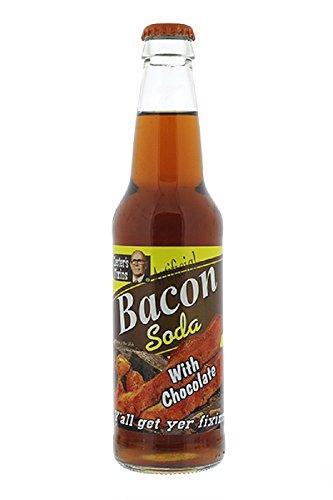 Lester's Fixin's Chocolate Bacon Soda 12oz (Bacon Flavor Soda)