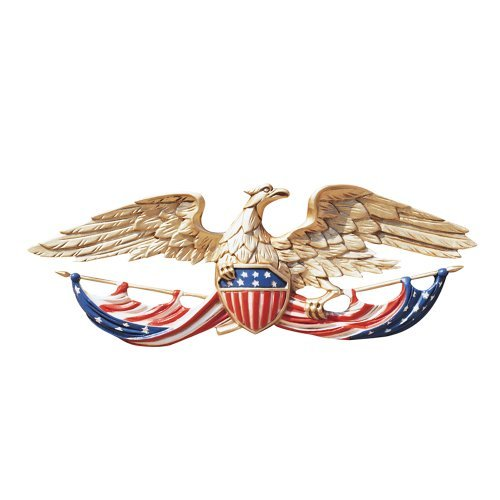 Whitehall Products Patriotic Decorative Wall Eagle, 24-Inch, Multicolored (Patriotic Wall Decor)