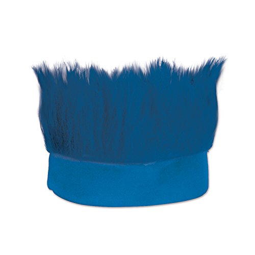Beistle Hairy Headband, Blue -
