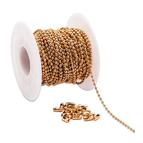 Tiparts 30 Feet 18K Gold Stainless Steel Ball