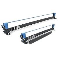 Gibbon Slacklines Slackrack Fitness Edition, grau/blau, Aufbaulängen: 2 oder 3 Meter, mit 2 Handgriffen, Stretchband und Übungsposter, Höhe: 30 cm, Breite: 2