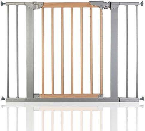 BabyDan Avantgarde - Bebé Puerta de la Escalera Barrera de Seguridad Haya Plata, 103,2-110,6cm: Amazon.es: Bebé