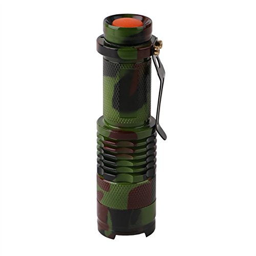 1 Set 1000 Lumen Camouflage Army Green XPE LED Flashlight 3W Convex Lens Flashlights Master Fashionable Ultra Xtreme Tactical Military Bright Light Waterproof Outdoor Running Hiking Hunting - Vision Headlamp Master