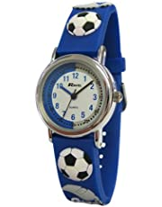 Ravel Children's 3D Blue Football Crazy Time Teacher Watch