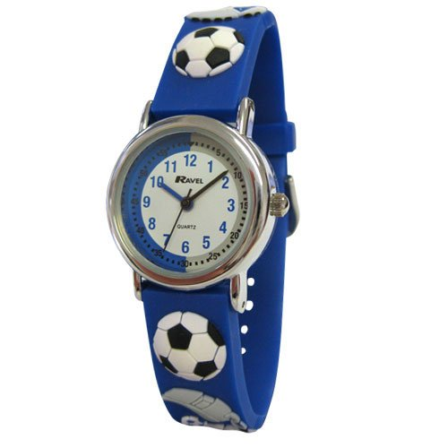 Ravel Football Time Teacher White Dial Kids - Boys Blue Watch R1513.32B