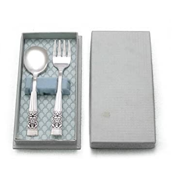Amazon.com : Coronation by Community, Silverplate Baby Spoon & Fork ...
