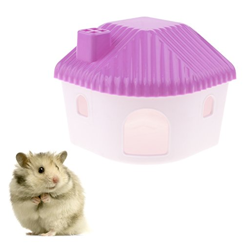 CoscosX Plastic Hamster House Hideout Hut Cage Cabin Small Animal Home Cottage Rat Hideaway Exercise Toy Mountable Bedroom Funny Nest Sand Room Bathroom for Guinea Pig Chinchilla Dwarf Mouse Gerbil