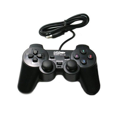Black USB Vibration Shock PC Computer Gamepad Game Controller Joystick Game Pad