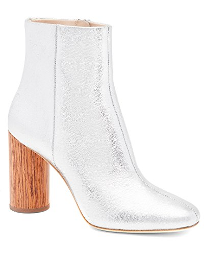 LOEFFLER RANDALL Women's Wilder (Metallic Leather) Ankle Boot, Silver/Cherry, 6 B US