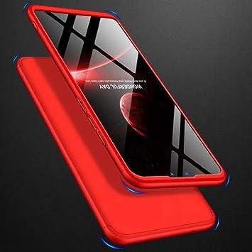 Misstars Ultra Mince 3 en 1 PC Dur Mati/ère /Étui 360 Degr/és Protection Anti-Rayures Antichoc pour Samsung Galaxy S9 Rouge Coque pour Galaxy S9 avec Protecteur D/écran
