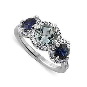 Wedding Ring Diamond Sapphire