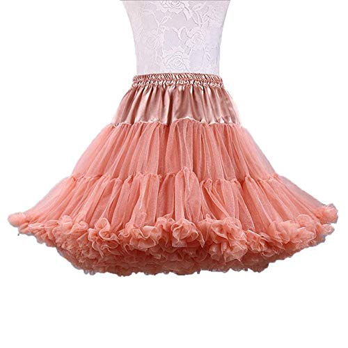 Douce Tutu Couches Ballet Jupon Multi Ab Femmes Costume Caramel Luxueuse Tulle Mall Jupe PW0pgp