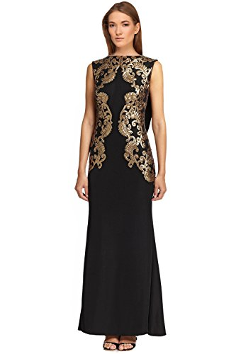 Tadashi Shoji Sequin Embellished Lace Evening Gown Dress