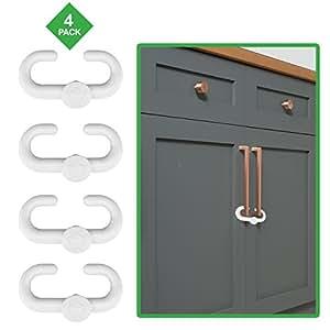 Child safety sliding locks by lebogner pack includes 4 locks to baby proof your for Child safe bathroom door locks