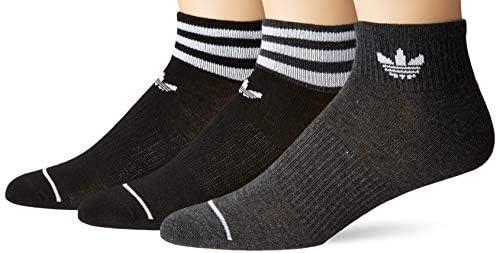 adidas オリジナル レディース フォーラム パッチ クルーソックス 1組 Medium, (Shoe Size 5-10) ブラック