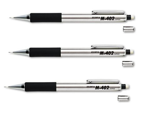 M-402 Mechanical Pencil - 0.50 mm, Stainless Steel Barrel(sold in packs of 3)