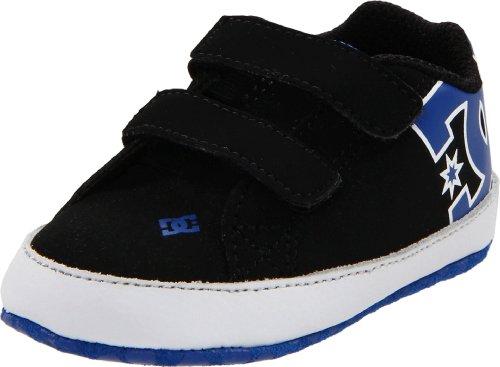 Dc Shoes Kids Crib (DC Girls' Court Graffik Crib Infant Skate, Black/White/Royal,2 M US Infant)
