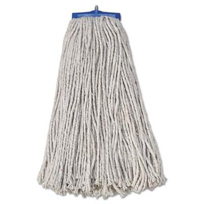 Boardwalk 720C Mop Head, Economical Lie-Flat Head, Cotton Fiber, 20oz, White (Case of 12)