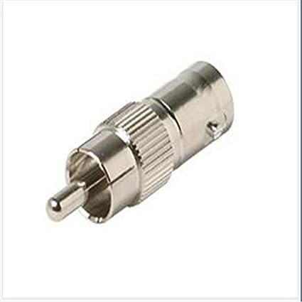 nicebuty Pack de 10 BNC hembra Jack a RCA macho Plug Cable coaxial adaptadores